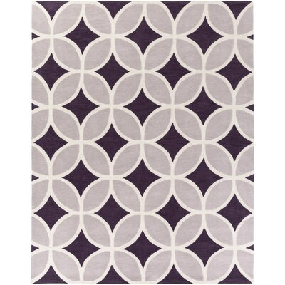 Kroeker Purple & Gray Area Rug Rug Size: Rectangle 76 x 96