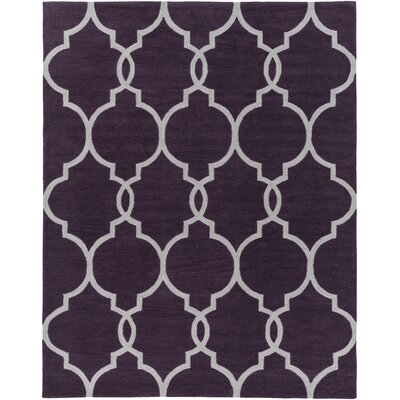 Hellwig Purple/Ivory Area Rug Rug Size: Rectangle 76 x 96