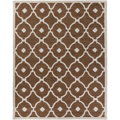 Kroeger Brown/Ivory Area Rug Rug Size: Rectangle 76 x 96