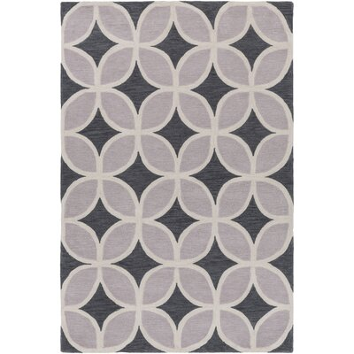 Kroeker Charcoal & Light Gray Area Rug Rug Size: Rectangle 5 x 76