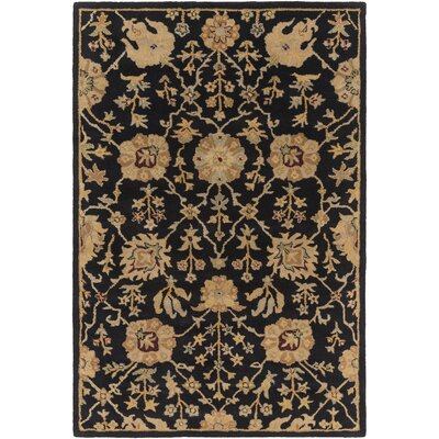 Dutil Black Area Rug Rug Size: Round 8