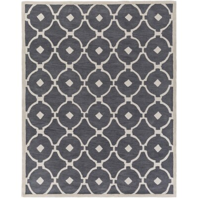Kroeger Gray/Ivory Area Rug Rug Size: Rectangle 76 x 96
