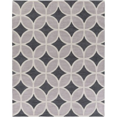 Kroeker Charcoal & Light Gray Area Rug Rug Size: Rectangle 76 x 96