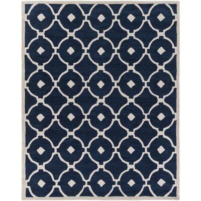 Kroeger Navy/Ivory Area Rug Rug Size: Rectangle 76 x 96