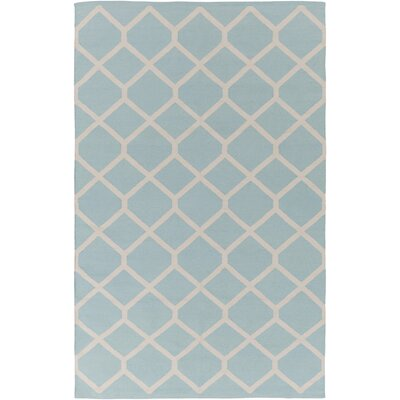 Murphree Light Blue/Ivory Area Rug Rug Size: Rectangle 5 x 76