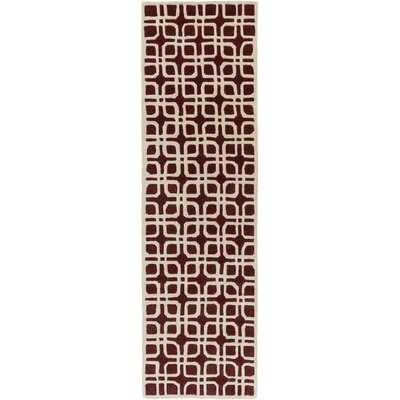 Murrah Red/Ivory Area Rug Rug Size: Runner 23 x 12