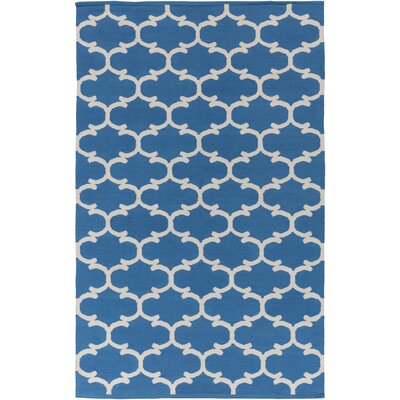 Ayles Blue/Ivory Area Rug Rug Size: Rectangle 8 x 10