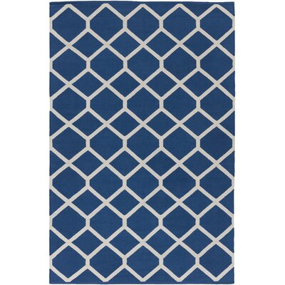 Murphree Blue & Ivory Area Rug Rug Size: Rectangle 8 x 10