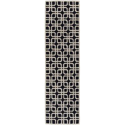 Murrah Slate & Ivory Area Rug Rug Size: Runner 23 x 12