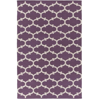 Ayles Light Purple/Ivory Area Rug Rug Size: Rectangle 8 x 10