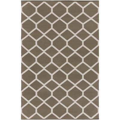 Murphree Gray/Ivory Area Rug Rug Size: Rectangle 5 x 76