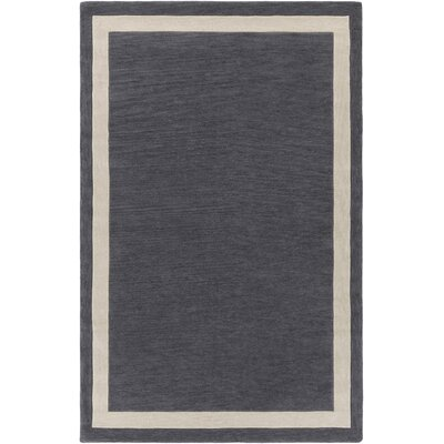 Cutrer Gray & Ivory Area Rug Rug Size: Rectangle 5 x 76