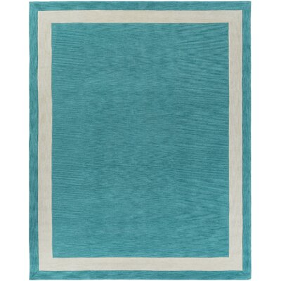 Cutrer Teal Area Rug Rug Size: Rectangle 76 x 96