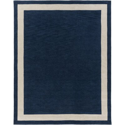 Cutrer Navy/Ivory Area Rug Rug Size: Rectangle 76 x 96