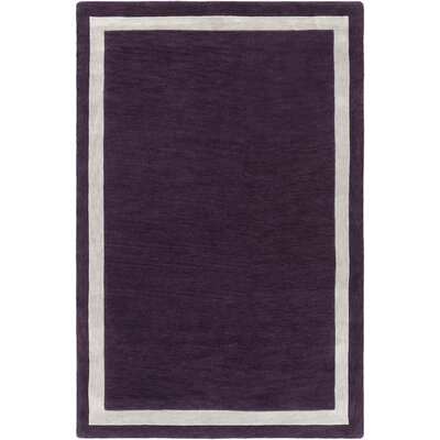 Cutrer Purple/Ivory Area Rug Rug Size: Rectangle 5 x 76
