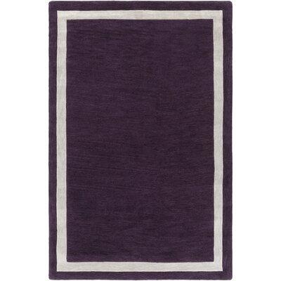 Cutrer Purple/Ivory Area Rug Rug Size: Rectangle 5 x 76