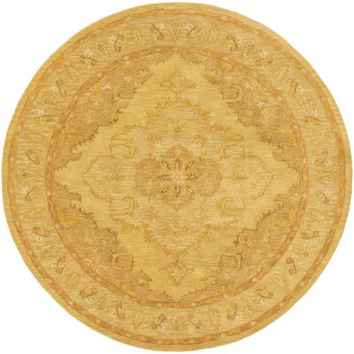 Eaddy Hand-Tufted Sunflower/Gold Area Rug Rug Size: Round 8