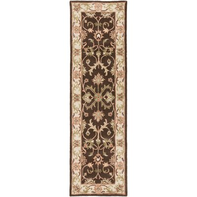 Oxford Brown Aria Area Rug Rug Size: Runner 23 x 8