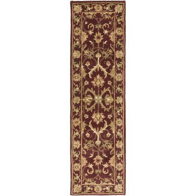 Oxford Red Aria Area Rug Rug Size: Runner 23 x 8