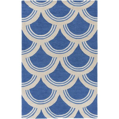 Hargrave Blue/Ivory Area Rug Rug Size: Rectangle 5 x 76