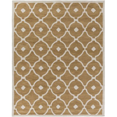 Kroeger Beige & Ivory Area Rug Rug Size: Rectangle 76 x 96