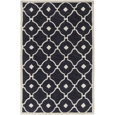 Kroeger Charcoal/Ivory Area Rug Rug Size: Rectangle 5 x 76