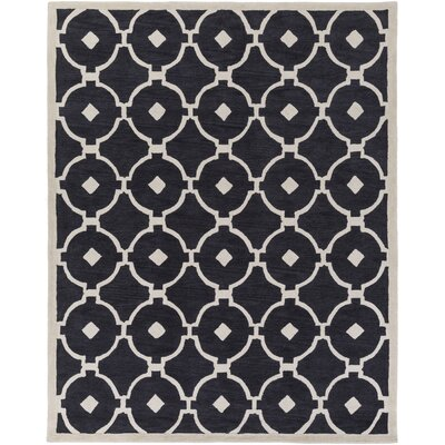 Kroeger Charcoal/Ivory Area Rug Rug Size: Rectangle 76 x 96