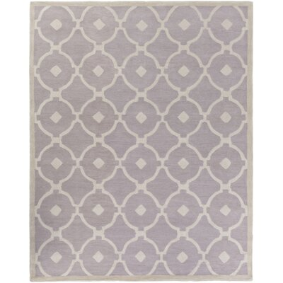 Kroeger Light Gray/Ivory Area Rug Rug Size: Rectangle 76 x 96
