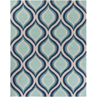Youngberg Teal Area Rug Rug Size: Rectangle 76 x 96