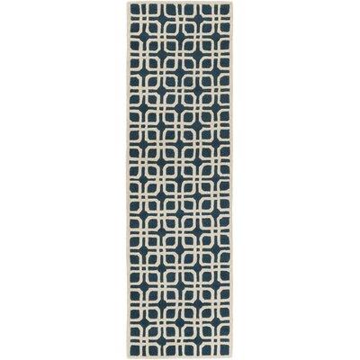 Murrah Blue/Ivory Area Rug Rug Size: Runner 23 x 12