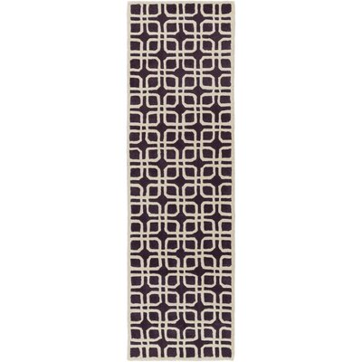 Murrah Purple/Ivory Area Rug Rug Size: Runner 23 x 14