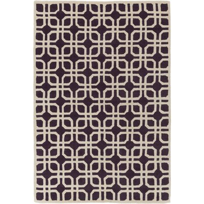 Murrah Purple/Ivory Area Rug Rug Size: Rectangle 5 x 8
