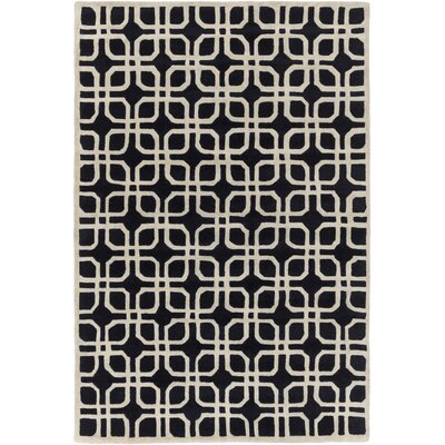 Murrah Slate & Ivory Area Rug Rug Size: Rectangle 6 x 9