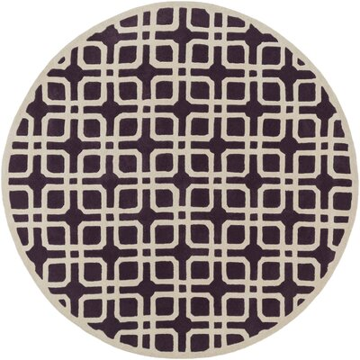 Transit Madison Purple/Ivory Area Rug Rug Size: Round 36