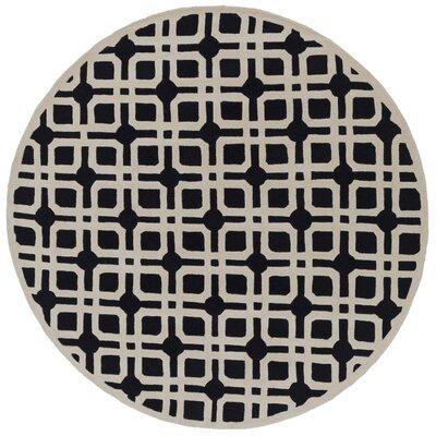 Murrah Slate & Ivory Area Rug Rug Size: Round 6