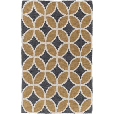 Kroeker Sand/Charcoal Area Rug Rug Size: Rectangle 5 x 76