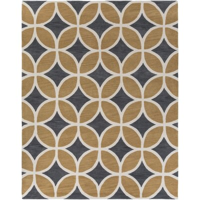 Kroeker Sand/Charcoal Area Rug Rug Size: Rectangle 76 x 96