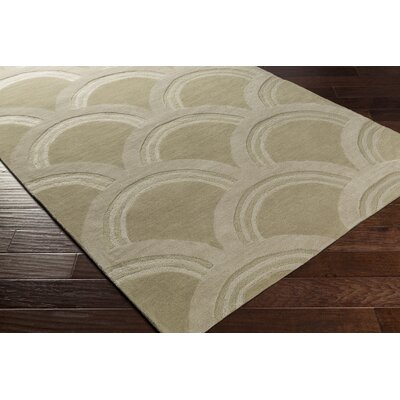 Gingras Beige/Ivory Area Rug Rug Size: Rectangle 5' x 7'6