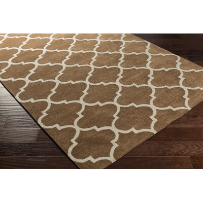 Cleaves Brown/Ivory Area Rug Rug Size: Rectangle 5 x 76
