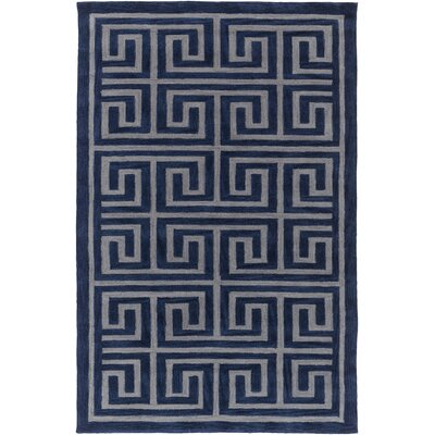 Ortis Navy/Gray Area Rug Rug Size: Rectangle 5 x 76