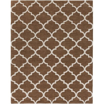 Cleaves Brown/Ivory Area Rug Rug Size: Rectangle 76 x 96