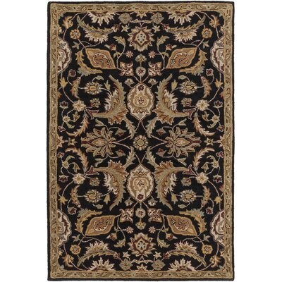Philips Black Area Rug Rug Size: Rectangle 2' x 3'
