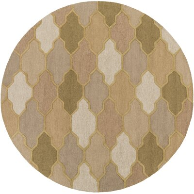 Pollack Morgan Beige Area Rug Rug Size: Round 8