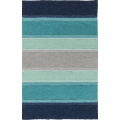 Ginn Blue Area Rug Rug Size: Rectangle 76 x 96