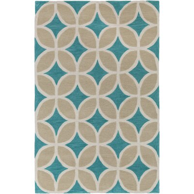 Kroeker Teal/Beige Area Rug Rug Size: Rectangle 5 x 76