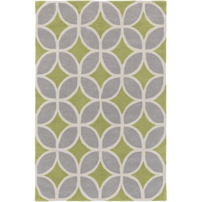 Kroeker Moss/Light Blue Area Rug Rug Size: Rectangle 5 x 76