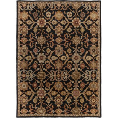 Philson Black Area Rug Rug Size: Rectangle 9 x 13
