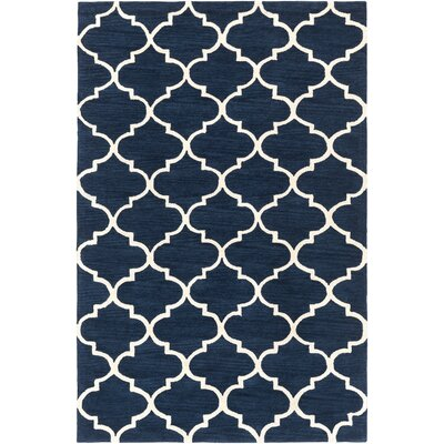 Cleaves Navy/Ivory Area Rug Rug Size: Rectangle 76 x 96