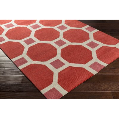 Wyche Coral Area Rug Rug Size: Rectangle 5 x 76