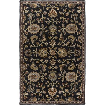 Middleton Mallie Black Area Rug Rug Size: Round 8